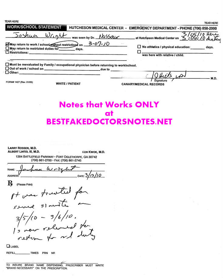 Use a Blank Doctors Note Ditch WorkSchool w Ease – Doctor Note
